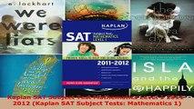 Read  Kaplan SAT Subject Test Mathematics Level 1 20112012 Kaplan SAT Subject Tests PDF Free