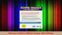 Download  Barrons Police Officer Exam 9th Edition EBooks Online