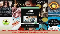 Read  200 Interview Questions Youll Most Likely Be Asked Job Interview Questions Series PDF Online