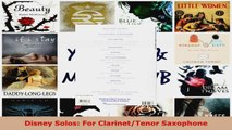 Read  Disney Solos For ClarinetTenor Saxophone EBooks Online