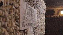 Restauration et remontage des murs d'ossements aux Catacombes de Paris