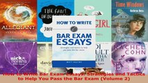 READ FULL How to Write Bar Exam Essays: Strategies and