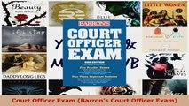 Read  Court Officer Exam Barrons Court Officer Exam EBooks Online
