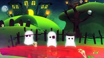 Five Naughty Ghosts | Scary Nursery Rhymes For Kids | 3D Rhymes