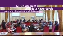 Le Département de la Haute-Savoie prend la présidence du Conseil du Léman