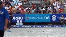 Demi-finale de l'Europétanque Département des Alpes-Maritimes à Nice 2015 : Sevilla vs Quintais