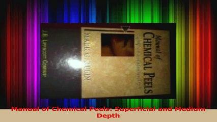 Manual of Chemical Peels Superficial and Medium Depth Download