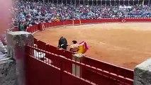 Cogida a Miguel Ángel Perera en Salamanca 15-09-2015