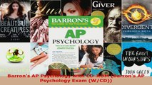 Read  Barrons AP Psychology with CDROM Barrons AP Psychology Exam WCD EBooks Online