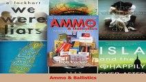 Read  Ammo  Ballistics Ebook Free