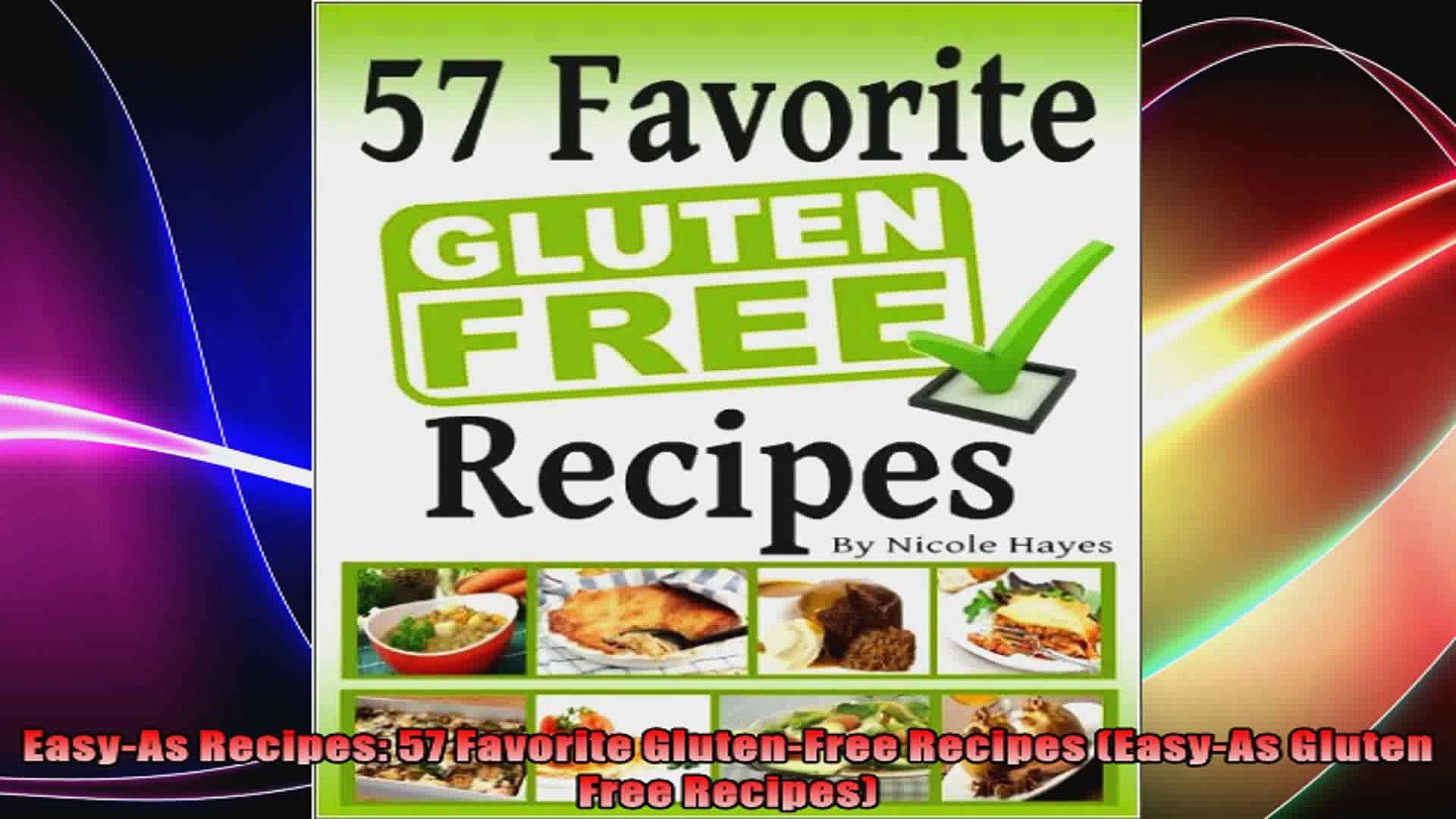 EasyAs Recipes 57 Favorite GlutenFree Recipes EasyAs Gluten Free Recipes