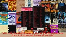 Download  VH1 100 Greatest Songs of the 80s Vh1 Selections from 100 Greatest Songs of the 80s PDF Online