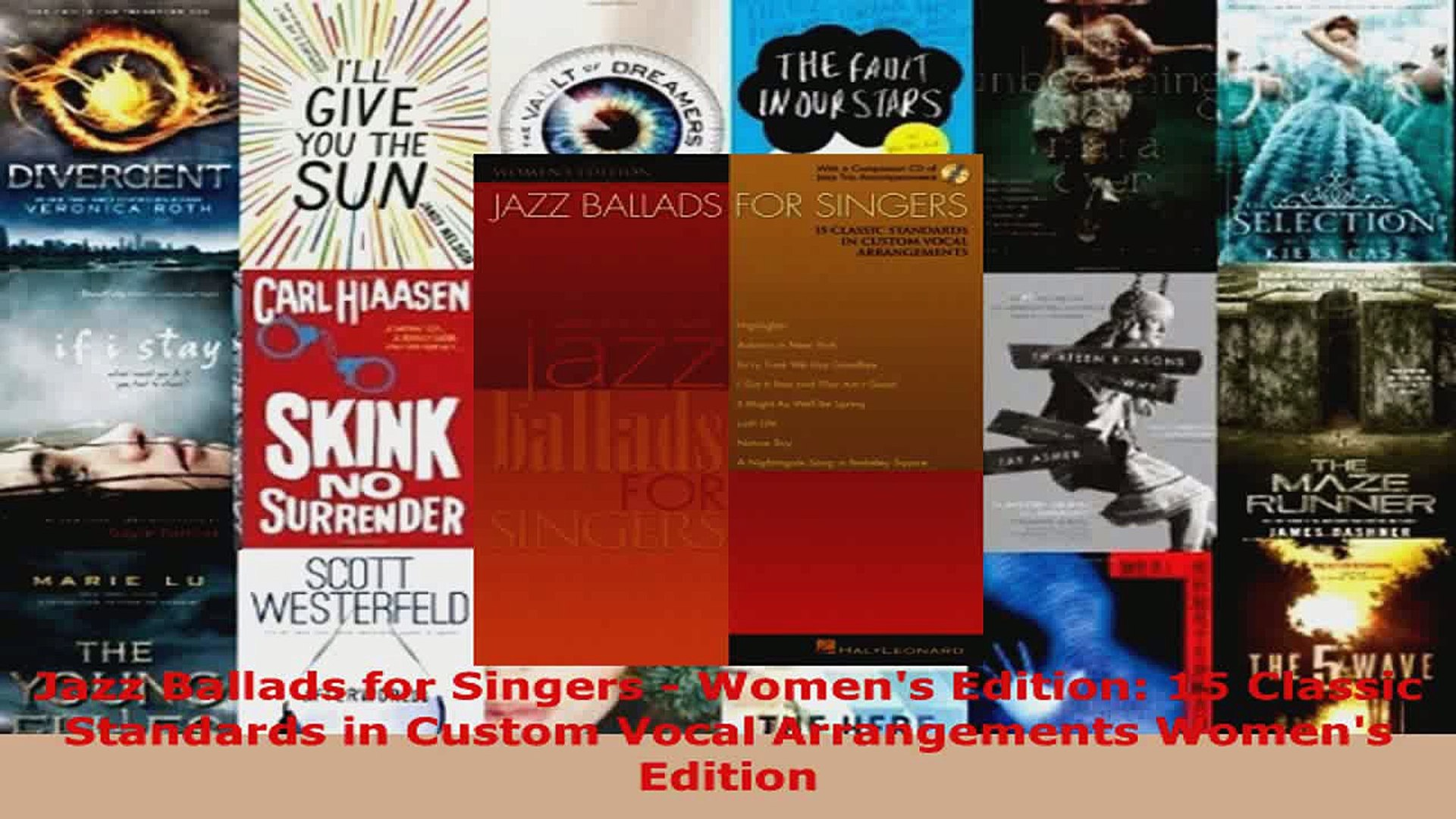 Download  Jazz Ballads for Singers  Womens Edition 15 Classic Standards in Custom Vocal PDF Online