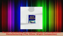 Read  Master Scheduling A Practical Guide to Competitive Manufacturing The Oliver Wight EBooks Online