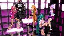 「MMD」Neru,Miku,Teto,Yukari, IA TDA - Around The World / Harder Better Faster Stronger!