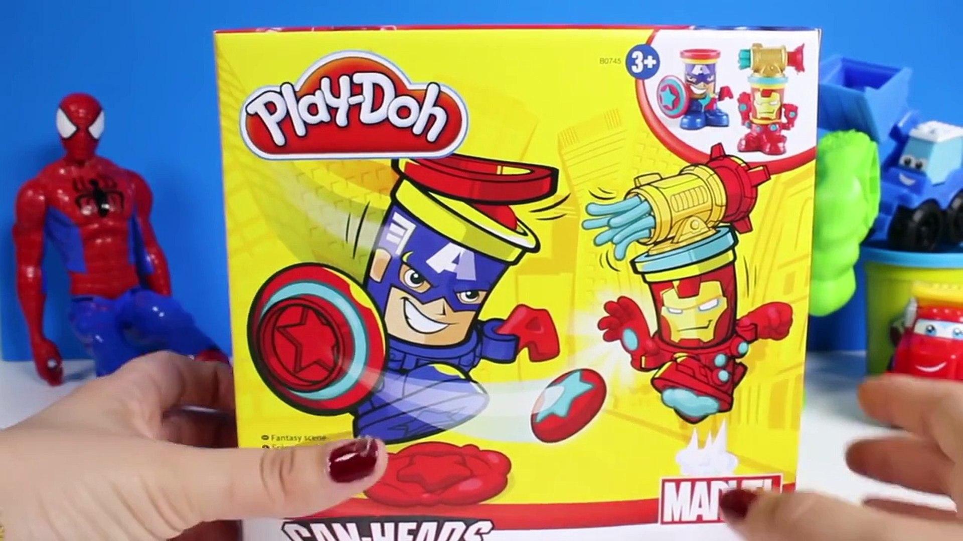Play Doh Peut Tetes De Captain America Iron Man De La Pate A