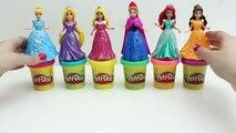 Play Doh DohVinci Éclat Des Robes De Princesse Disney Magiclip Poupées Faire Des Robes De Poupée Playdoh Paillettes