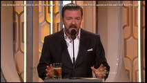 Ricky Gervais' best jokes at the Golden Globes