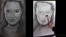Анджелина Джоли - КАК НАРИСОВАТЬ ПОРТРЕТ ПАСТЕЛЬЮ АНДЖЕЛИНУ ДЖОЛИ
