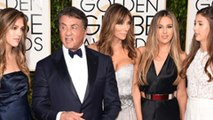 Family Affair: Sylvester Stallone With Family At The 2016 Golden Globes Red Carpet