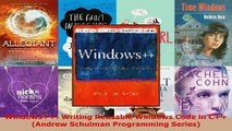 Download  Windows Writing Reusable Windows Code in C Andrew Schulman Programming Series EBooks Online