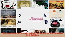 PDF Download  Measurement of Joint Motion A Guide to Goniometry 3rd Edition Read Online