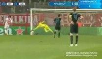 0-1 Olivier Giroud GOAL - Olympiakos v. Arsenal 09.12.2015 HD