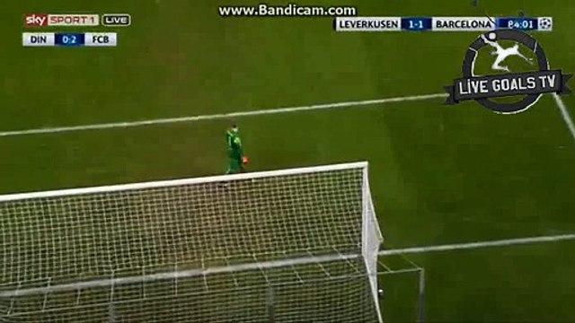Marc-André ter Stegen Amazing Save - Bayer 04 Leverkusen vs Barcelona - Champions League - 09.12.2015