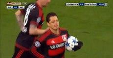 Goal Javier Chicharito Hernández - Bayer Leverkusen 1-1 Barcelona (09.12.2015) Champions League