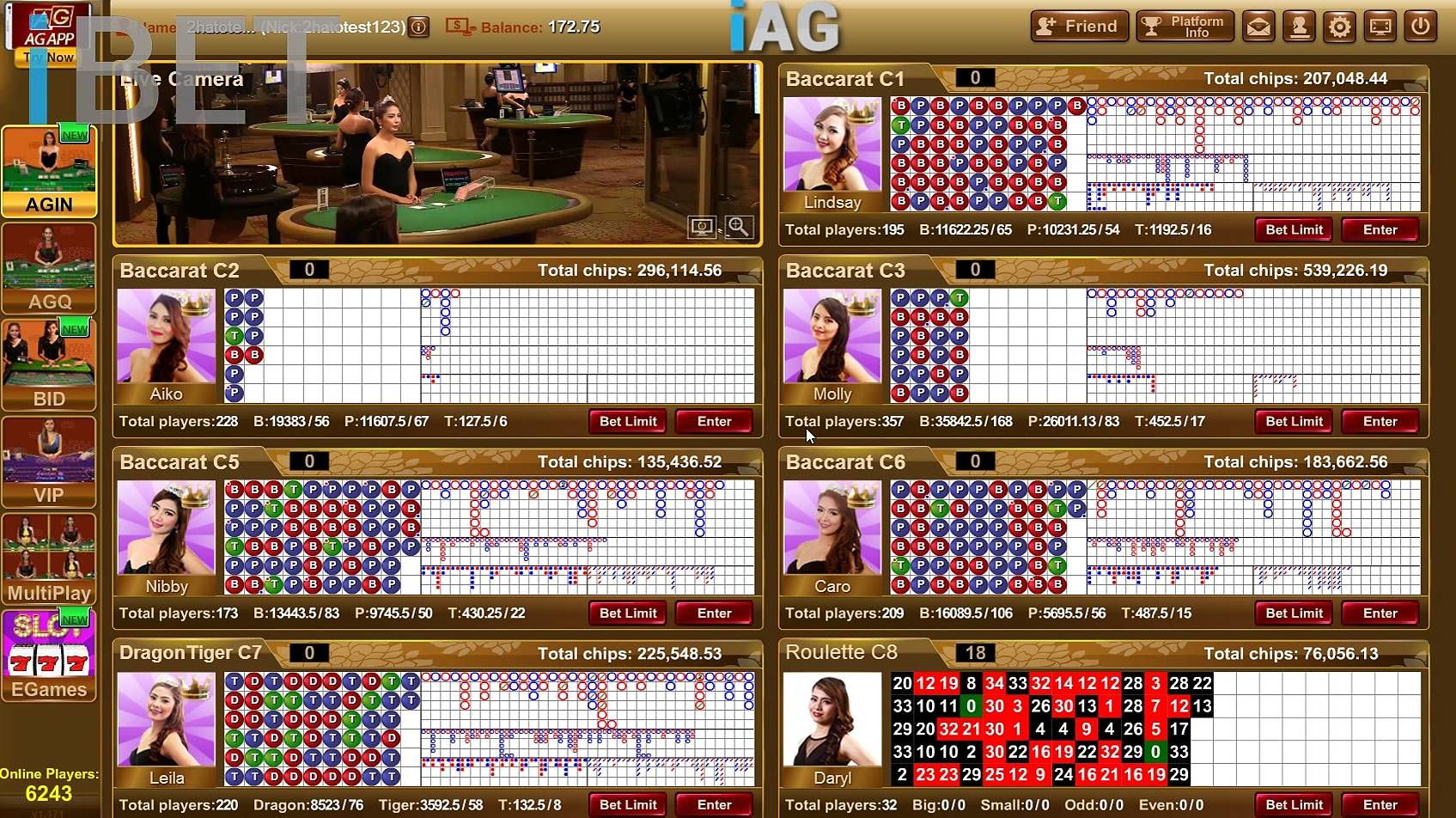 "iBET Live Casino ""AG Baccarat"" by the Best Malaysia Online Casino"