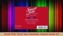 Read  Small Talk More Jazz Chants Chants Audio CD Ebook Free