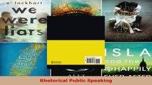 Read  Rhetorical Public Speaking EBooks Online