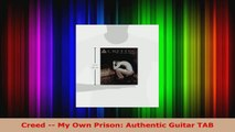 Read  Creed  My Own Prison Authentic Guitar TAB PDF Online