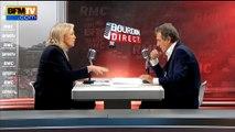 """Calais: """"Mme Bouchart délivre des laissez-passer, on n'a pas vu ça depuis la guerre"""", assure Marine Le Pen"""