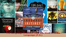 Read  The Language Instinct How the Mind Creates Language PS EBooks Online