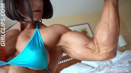 Muscle Girl Clips Muscular female strong women