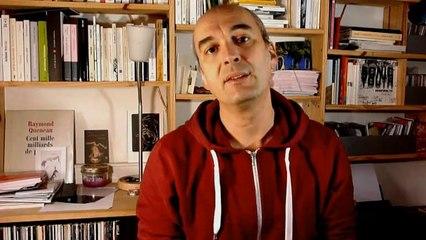 Les remerciement d'Eric Pessan pour le prix NRP littérature jeunesse