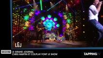 Le Grand Journal : Chris Martin chante du Katy Perry mais refuse de parler en français