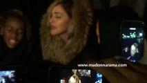 """Madonna sings """"Like a Prayer"""" near Paris Attacks Spots - Place de la République"""