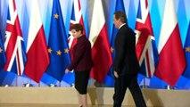 David Cameron meets Polish Prime Minister in Warsaw