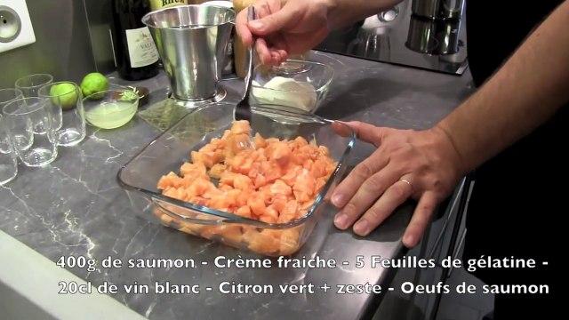 Verrine de Saumon au Citron vert