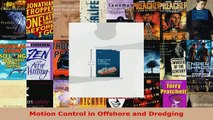 Read  Motion Control in Offshore and Dredging Ebook Free