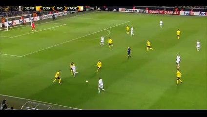 Róbert Mak Goal - Dortmund 0-1 PAOK - 10-12-2015