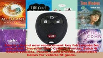 2007-2008-2009 Chevy Cobalt Keyless Entry Remote Fob Clicker
