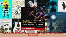 Basic and Clinical Pharmacology 12E LANGE Basic Science Read Online