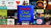 Read  Leading Out Loud The Authentic Speaker The Credible Leader Jossey Bass Business and EBooks Online