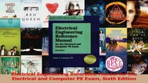 Electrical Engineering Reference Manual for the Electrical and Computer PE Exam Sixth PDF