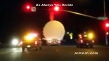 Unknown Glowing Object Escorted By California Police