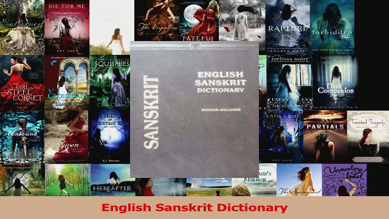 PDF Download  English Sanskrit Dictionary Download Full Ebook