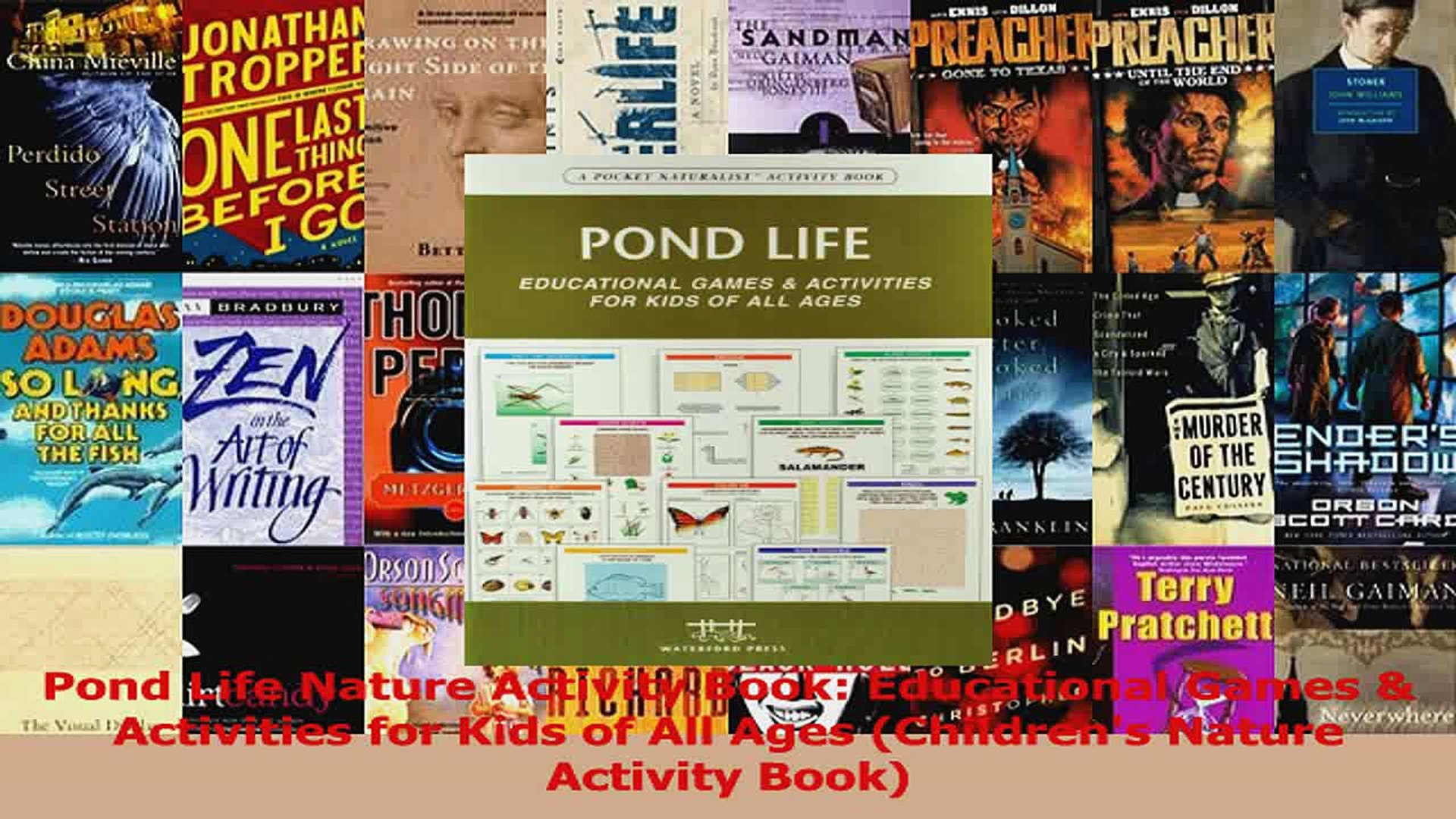 Download  Pond Life Nature Activity Book Educational Games  Activities for Kids of All Ages PDF Free